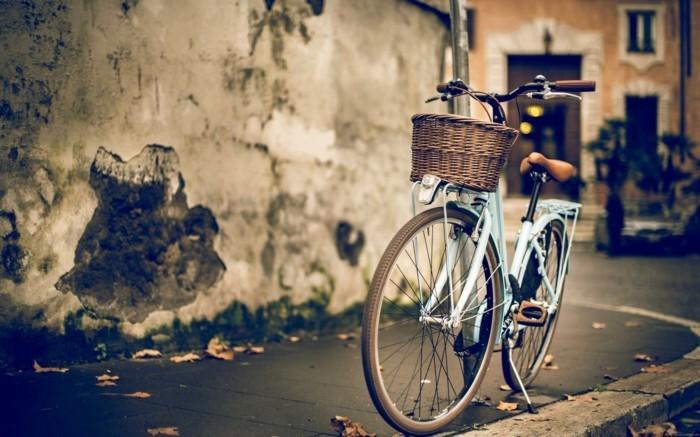 Magnifique-vintage-photographie-vintage-velo-de-ville-femme-style-50-s-rétro-beau
