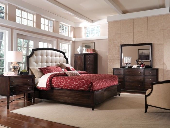 chambre a coucher moderne rouge. Black Bedroom Furniture Sets. Home Design Ideas