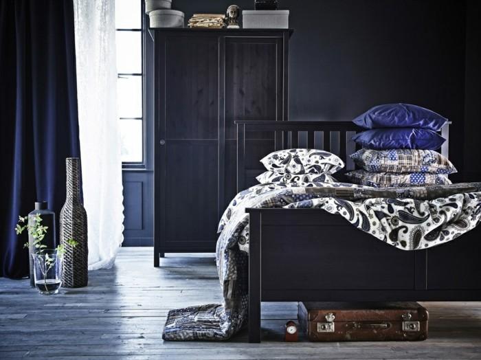 Se-relâcher-bien-dans-sa-propre-maison-cool-idées-pour-la-couleur-pour-chambre-à-coucher-belle-en-bleue