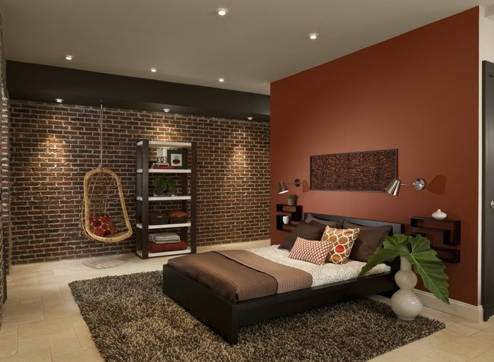 Vue-de-la-meilleure-chambre-couleur-tendance-pour-chambre-à-coucher-brune