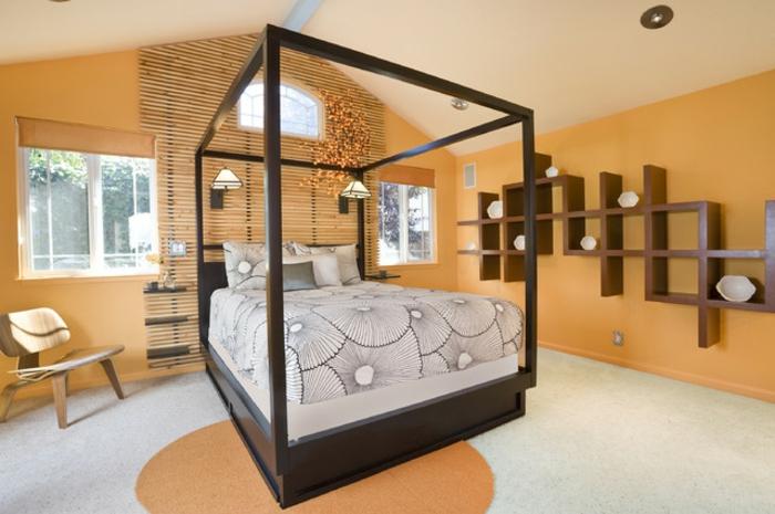 chambre adulte couleur orange. Black Bedroom Furniture Sets. Home Design Ideas