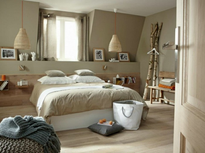 Chambre a coucher tendance 2016 - Chambre a coucher taupe ...