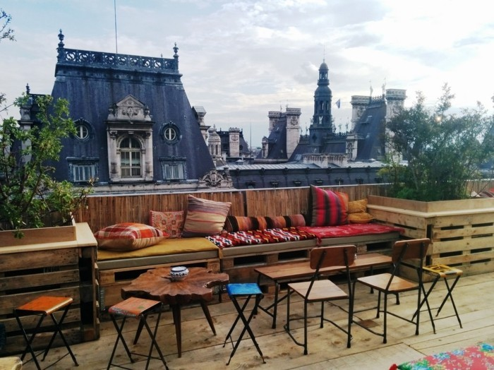 appartement-toit-terrasse-paris-beauté-de-la-ville-de-Paris-beau-