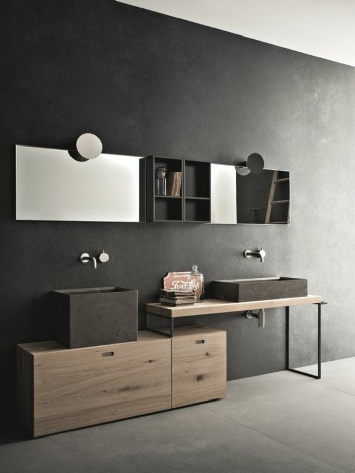 Armoire de salle de bain contemporaine 1 porte nashville - Armoire de salle de bain ikea ...