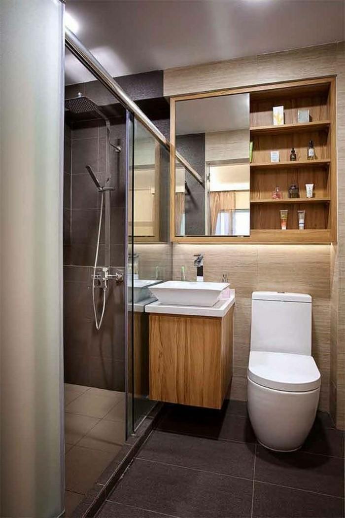 armoire-toilette-allibert-miroir-cabine-de-douche-sol-en-carreage-gris