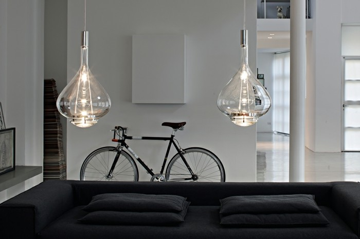 Stunning lustre suspension noir la suspension luminaire en for Luminaire exterieur ikea