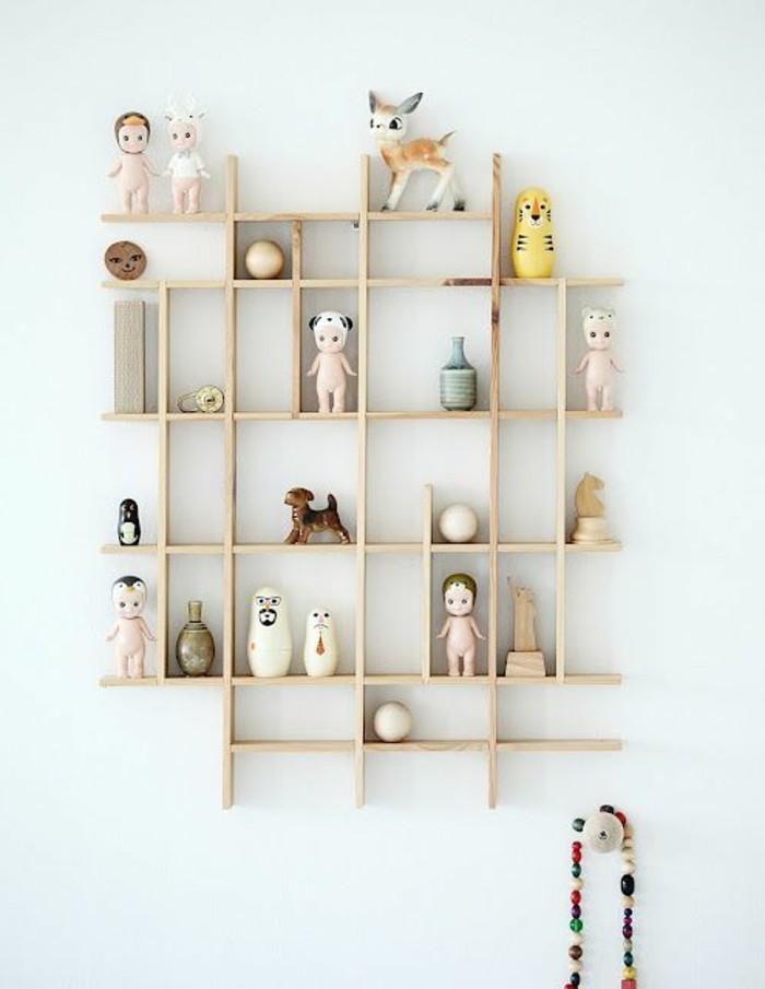 Biblioth que bois clair - Decoration bibliotheque murale salon ...