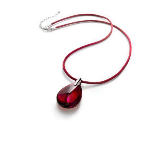 bijoux-baccarat-pendentif-goutte-d'eau-rouge
