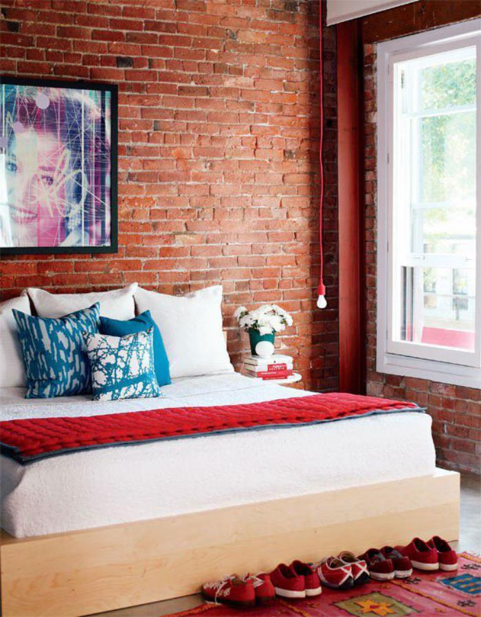 brique-rouge-chambre-à-coucher-fantastique-déco-mur-briques