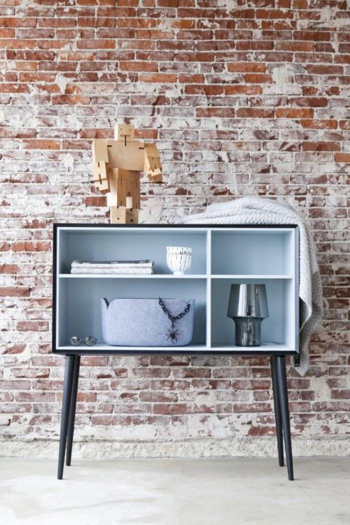 Keuken Licht Blauw : Un int?rieur tout industriel avec mat?riaux authentiques ? bois