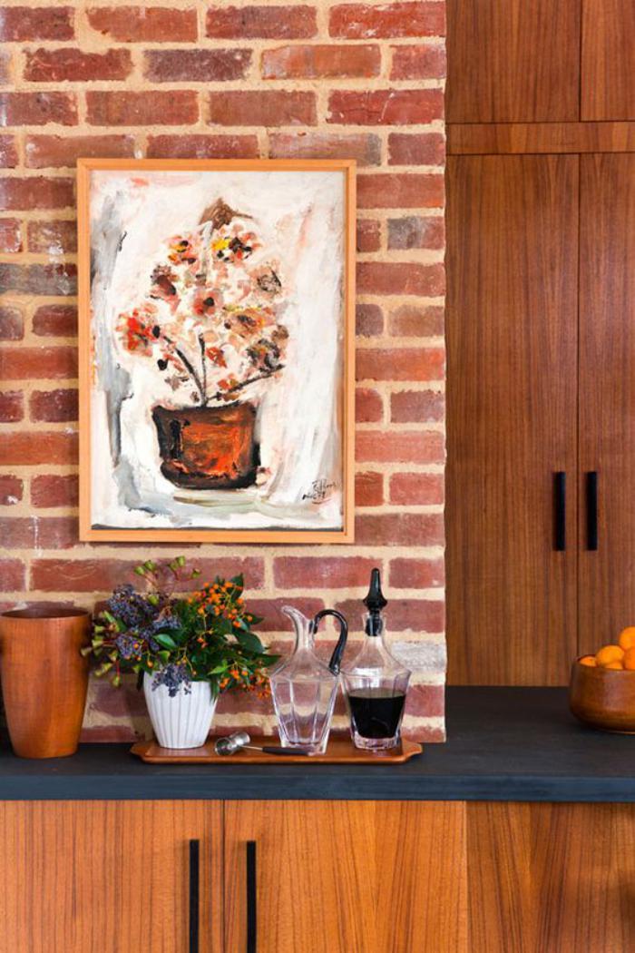 brique-rouge-mur-de-cuisine-originale-parement-brique-rouge