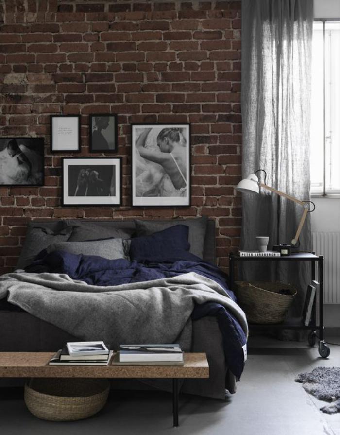 brique-rouge-mur-en-brique-pour-la-chambre-à-coucher