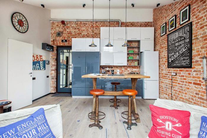 brique-rouge-petite-cuisine-loft