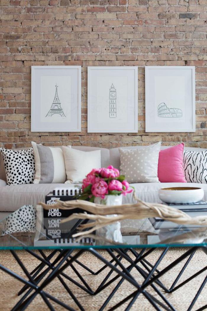 la brique rouge l ment d co principal du loft. Black Bedroom Furniture Sets. Home Design Ideas