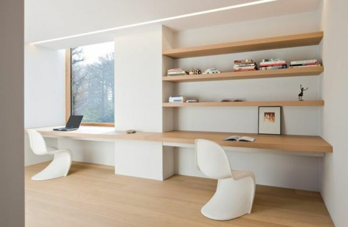 L tag re biblioth que comment choisir le bon design for Bureau blanc en bois