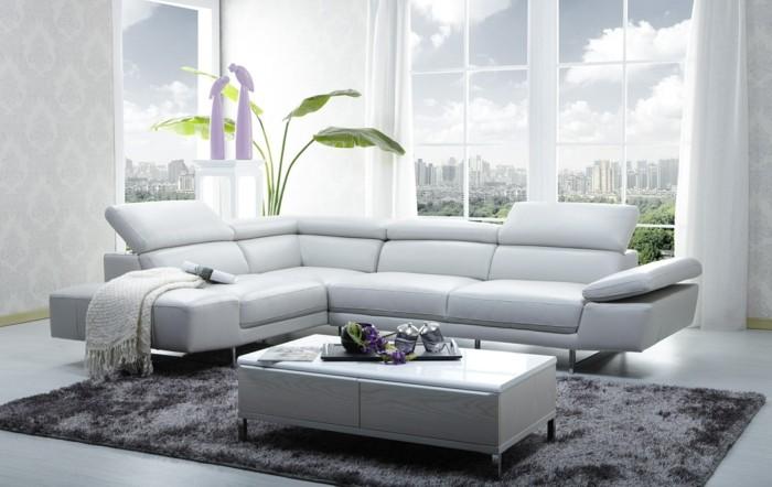 canapé-design-italien-cuir-blanc-salon-chic-tapis-gris-pour-le-salon-moderne-pas-cher