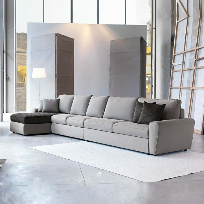 Canape gris design salon accueil design et mobilier - Salon canape gris ...