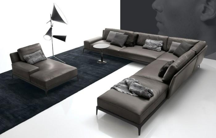 canape-cuir-gris-pour-le-salon-chic-idee-salon-moderne-deco-murale-salon