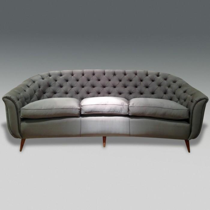 Le canap design italien en 80 photos pour relooker le salon - Canape capitonne gris ...