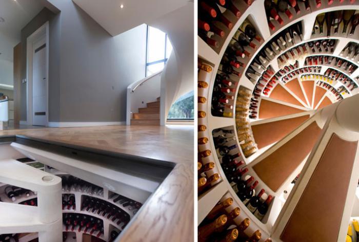 cave-à-vin-spirale-rengement-bouteilles-de-vin-original