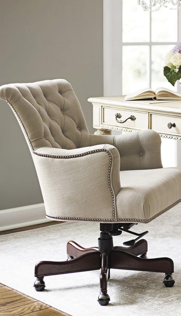 D corer l 39 int rieur avec la chaise capitonn e - Chaise de bureau confort ...