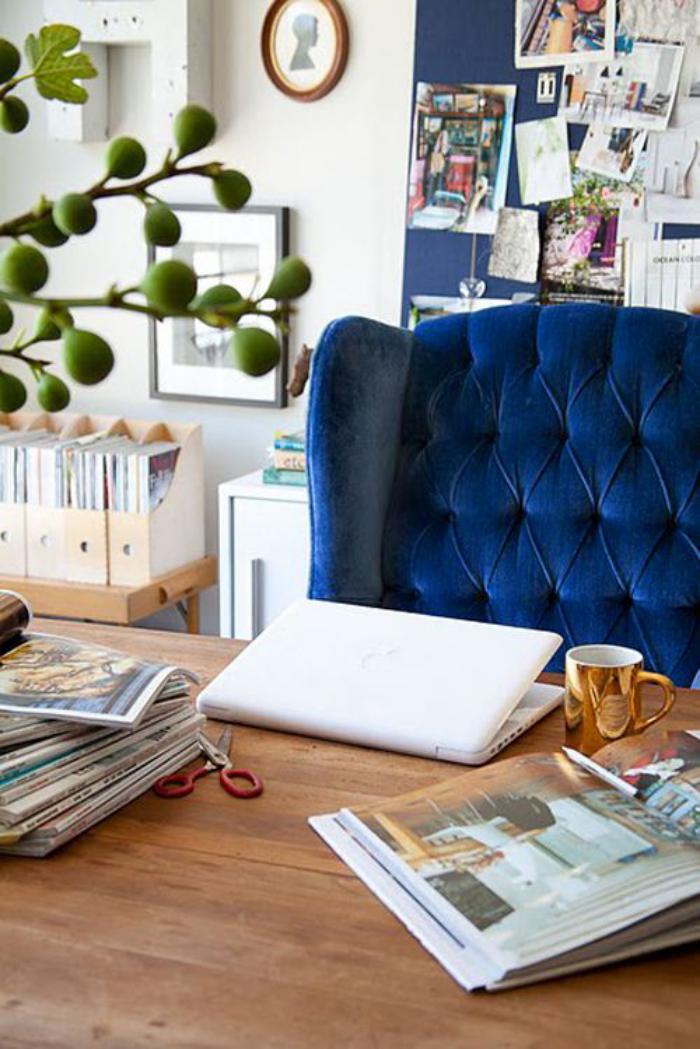 chaise-capitonnée-idée-déco-bureau-de-travail