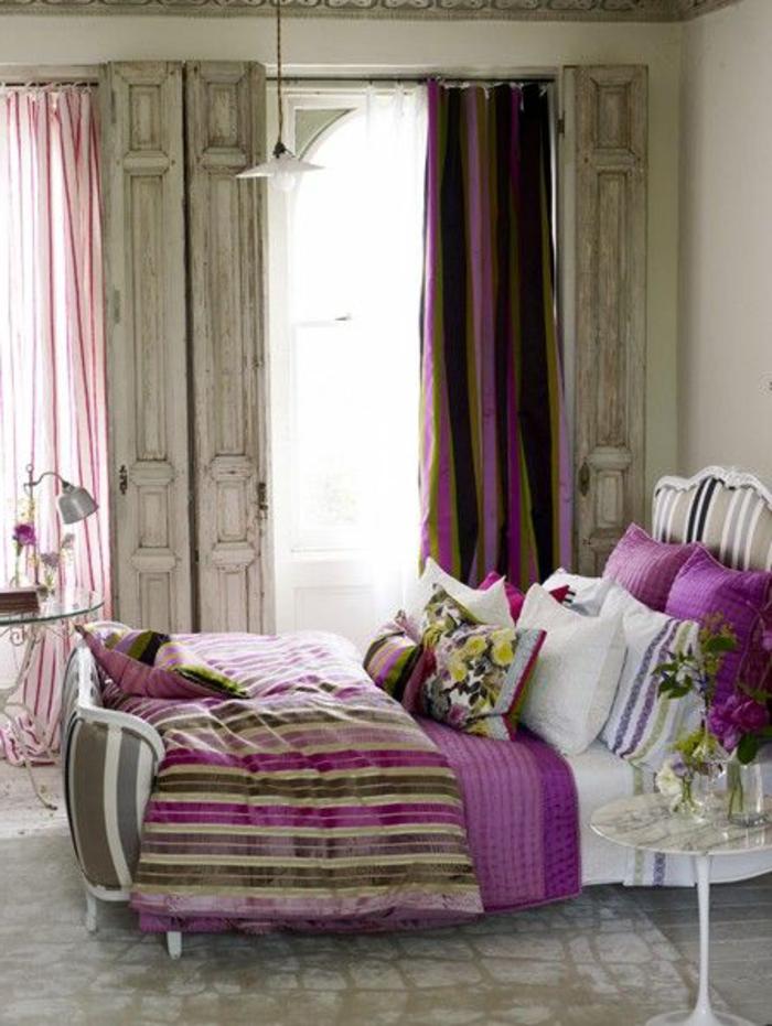 chambre-a-coucher-retro-chic-meubles-anciens-idees-d-interieur-chic-lit-en-fer