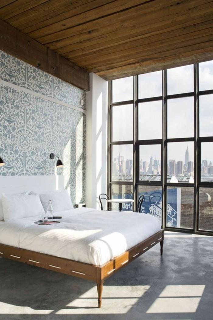 chambre-a-coucher-sol-en-beton-decoratif-plan-de-travail-béton-ciré-béton-décoratif