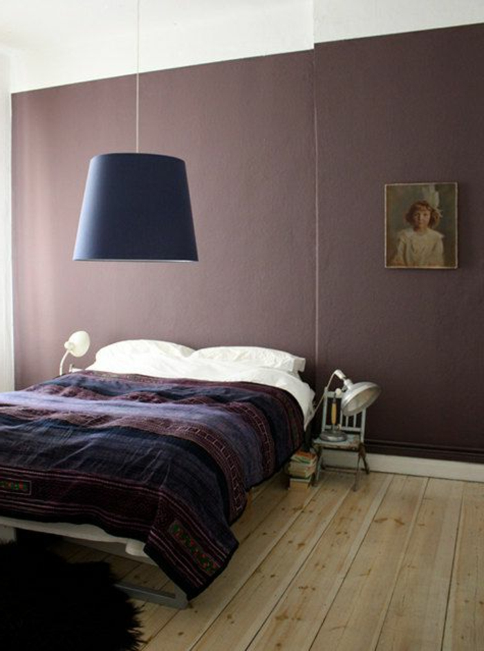 Chambre moderne prune for Chambre a coucher 2016 moderne
