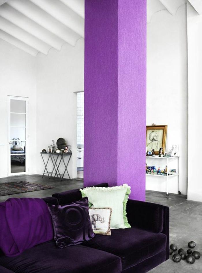 80 id es d 39 int rieur pour associer la couleur prune for Peinture gris violet