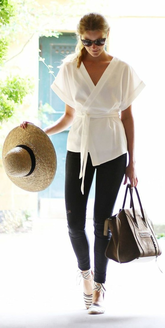 cool-tenue-veste-kimono-femme-le-chic-boho-vêtement-mode-blanc-chemise