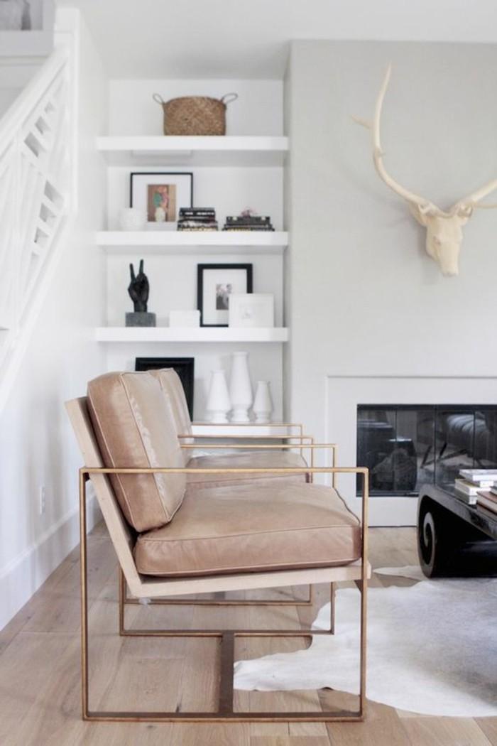couleur-complémentaire-du-beige-couleur-peinture-salon-beige-canape-cuir-beige-tapis-blanc