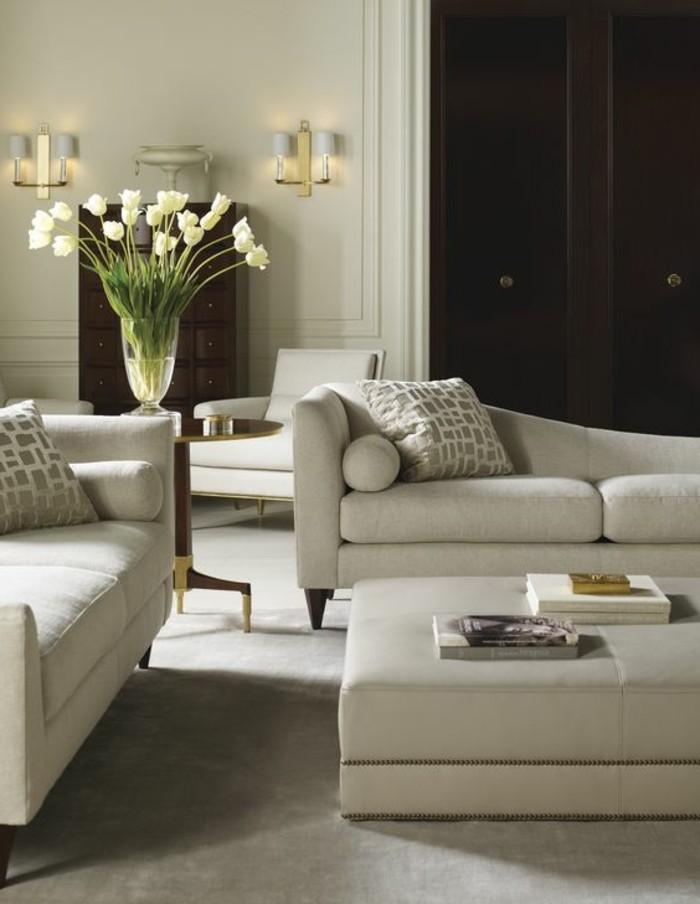 couleur-complémentaire-du-beige-couleur-peinture-salon-meubles-gris-dans-le-salon-chic