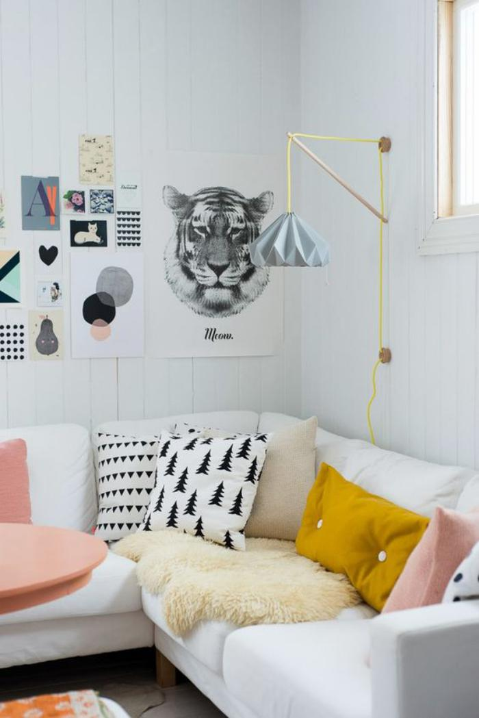 la d co int rieure avec la couleur ocre en 40 photos. Black Bedroom Furniture Sets. Home Design Ideas