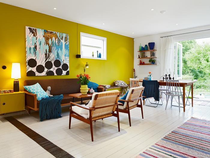 couleur-ocre-peinture-murale-en-couleur-vive