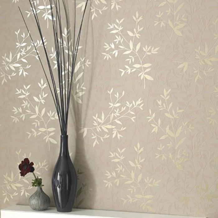 déco-couloir-étroit-idee-deco-couloir-papier-peint-couleur-beige-idee-photo