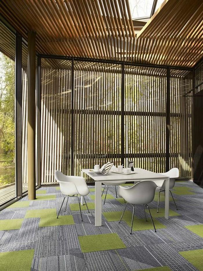 dalles-de-moquette-castorama-gris-vert-meubles-d-interieur-en-bois-comment-amenager
