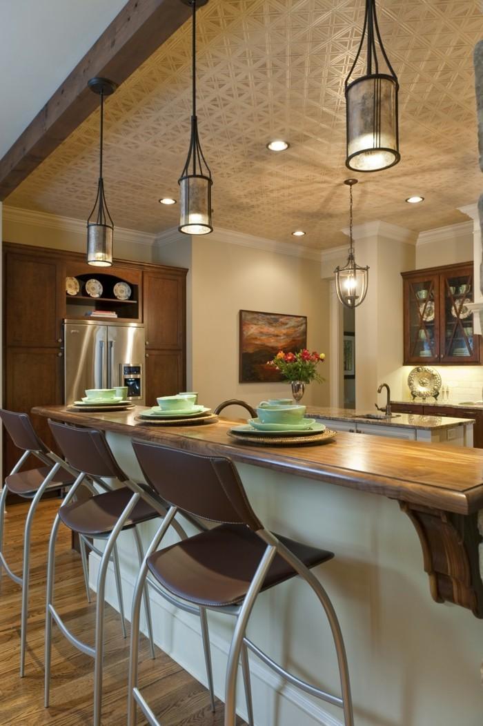 decoration-salle-de-séjour-suspension-luminaire-pas-cher-belle-idée-cool-cuisine