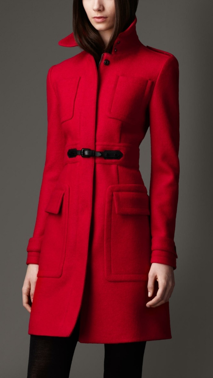 dusters-trench-imperméable-femme-trench-femme-long-rouge