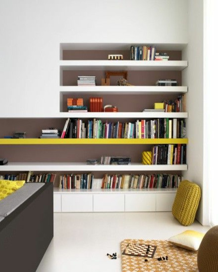 L tag re biblioth que comment choisir le bon design - Etagere murale salon ...