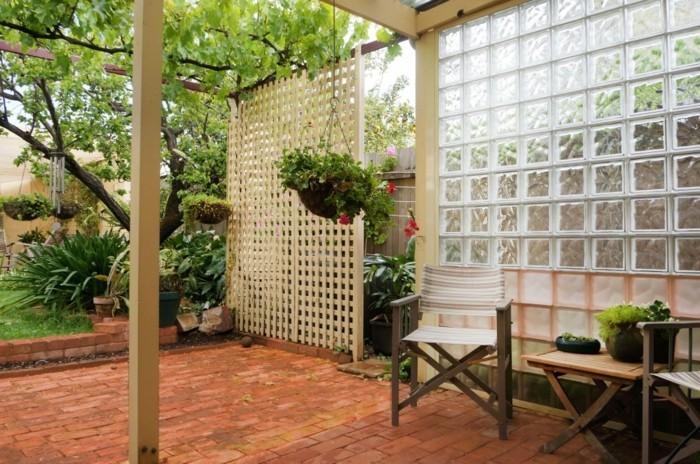 extrieur amnagement beau jardin verre pavs de verre - Pave De Verre Exterieur