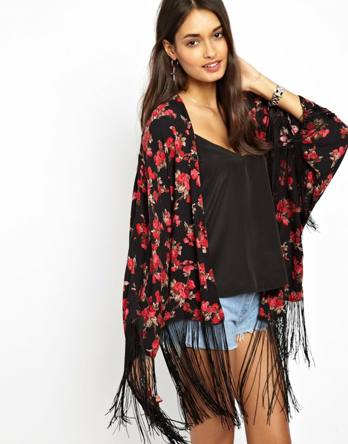 formidable-kimono-veste-femme-kimono-japonais-vêtement-chic-femmes-fleurie-veste-rouge-et-noir