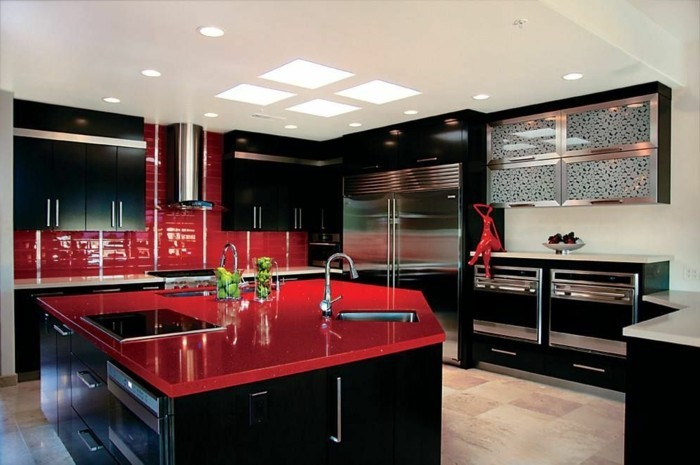 Couleur peinture chambre adulte comment choisir la bonne for Red white and black kitchen designs