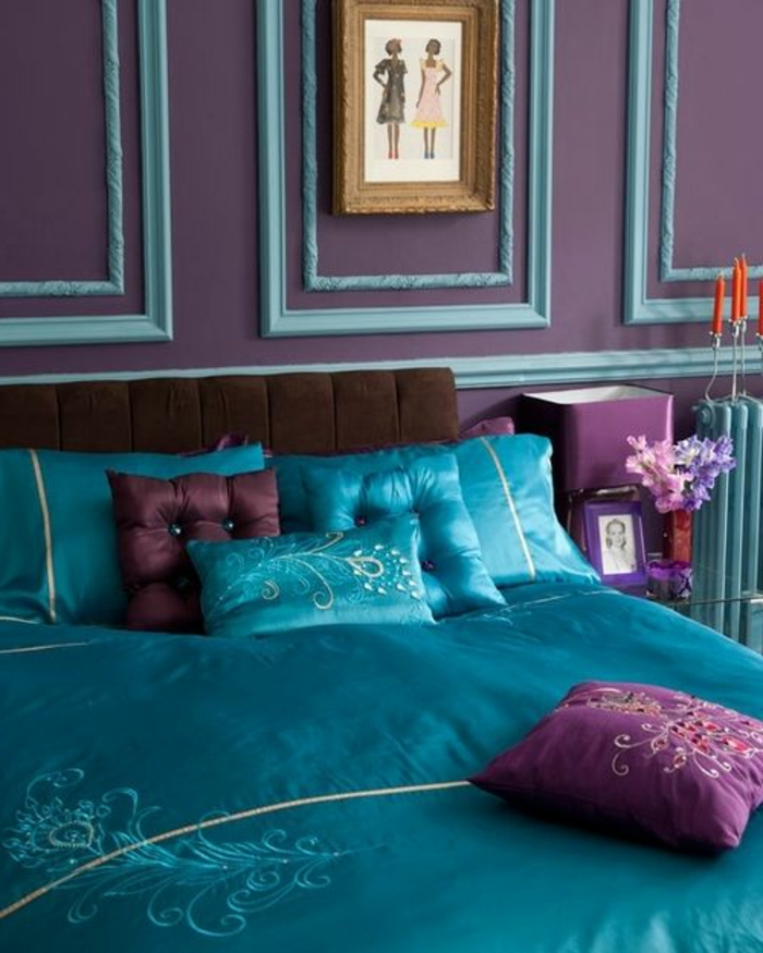 Chambre couleur prune les id es chambres attrayante chambre couleur prune - Idee couleur maison interieur ...