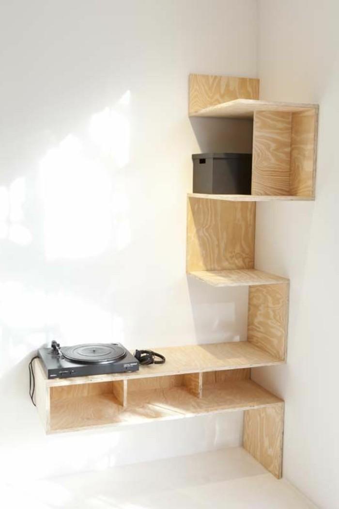 Les étagères d'angle en 41 photos, pleines des idées! ~ Etagere En Bois Design