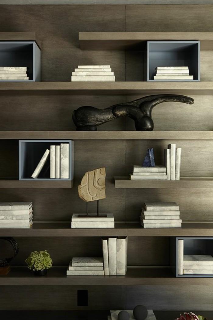 L u2019étag u00e8re biblioth u00e8que, comment choisir le bon design? Archzine fr # Étagère Murale Design Original En Bois