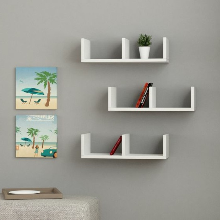 L tag re biblioth que comment choisir le bon design Etagere murale design