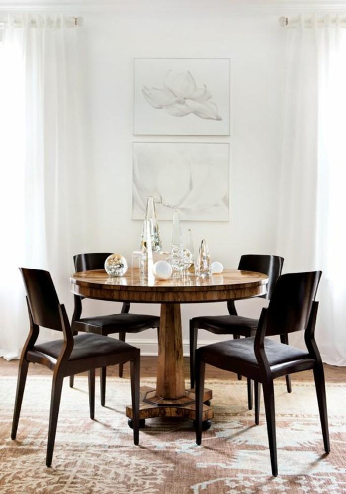 ikea-table-ronde-design-en-bois-jolie-salle-à-manger-contemporaine