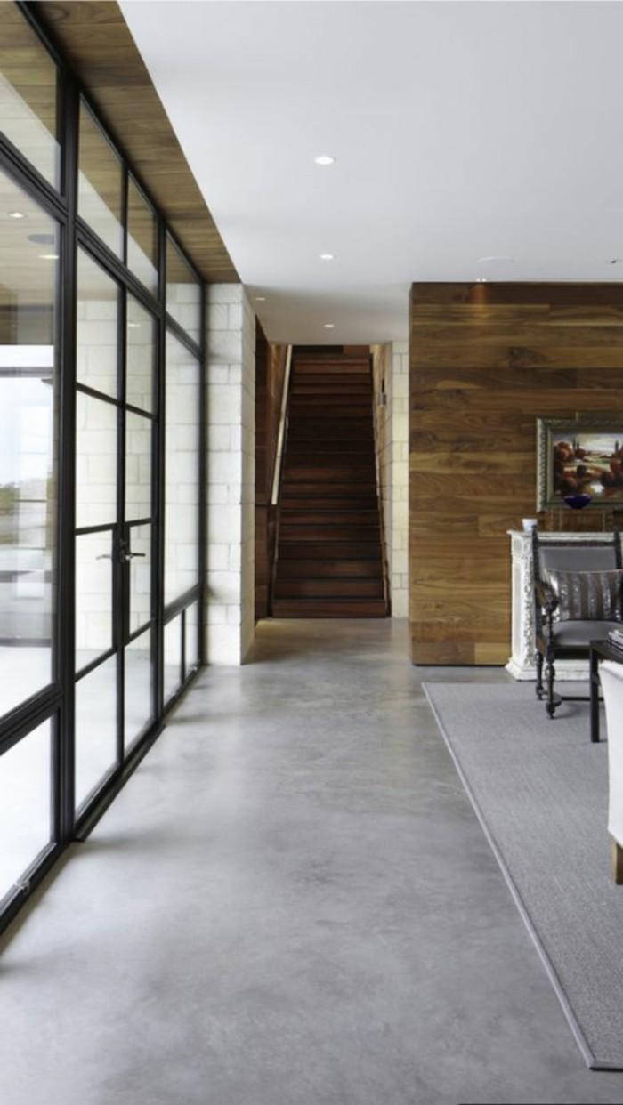 interieur-chic-béton-décoratif-gris-plan-de-travail-beton-cire-de-couleur-gris-interieur