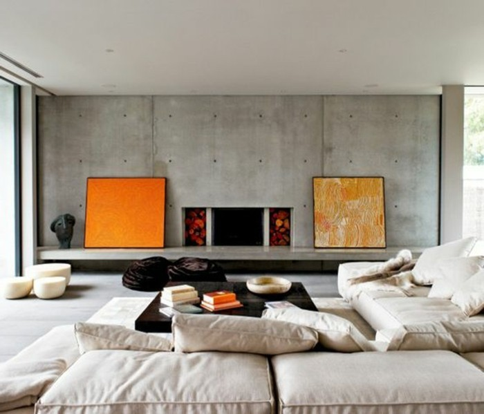 Int rieur en b ton d coratif nos conseils - Mur beton cire salon ...